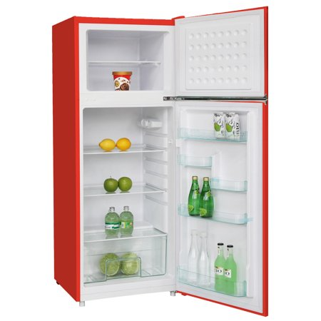 Rca 10 Cu Ft Top Freezer Apartment Size Retro Refrigerator Red Rfr1055 Walmart Com Walmart Com In 2020 Retro Refrigerator Small Fridges Mini Fridge