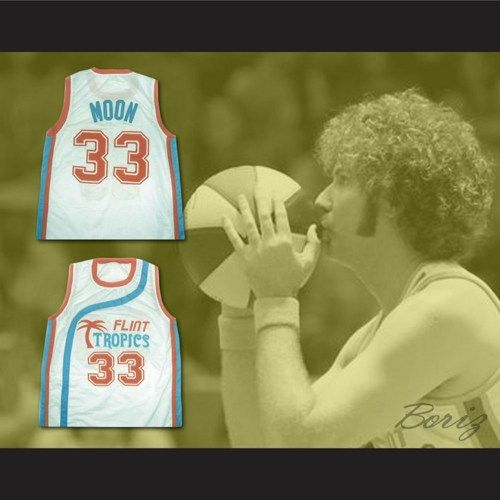 06cf7b08ad7c Jackie Moon no 33 Flint Tropics Semi Pro Movie Jerse Will Ferrell ...