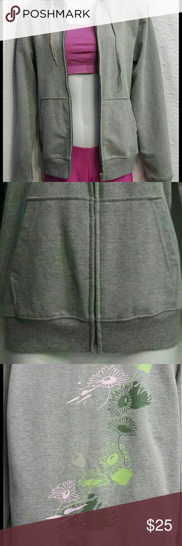 New Gray Jacket NWOT , 100% Cotton Hooded Jacket. Tops Sweatshirts & Hoodies