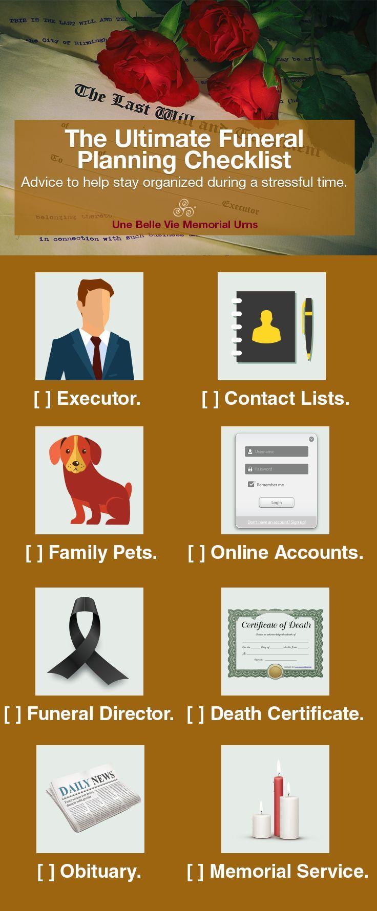 Funeral Planning Checklist to Help with Arrangements