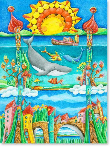 Aquarellbilder Galerie 2 Aquarellbilder, Kinder basteln