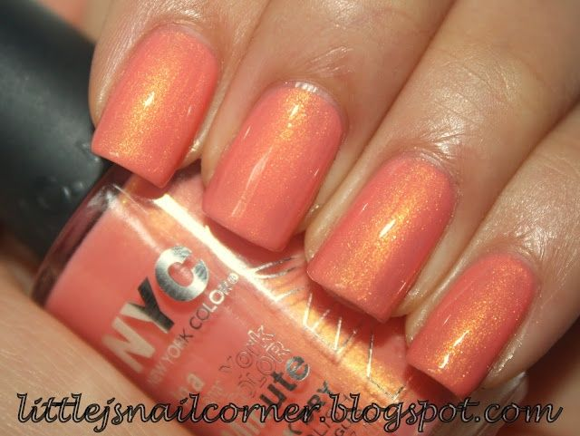 NYC Peach Sparkle | Nail Polish I Own: Warm Colors | Pinterest ...