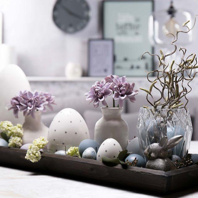 dekotablett 80x20x4cm braun braun wohnung pinterest ostern osterdeko und fr hling. Black Bedroom Furniture Sets. Home Design Ideas
