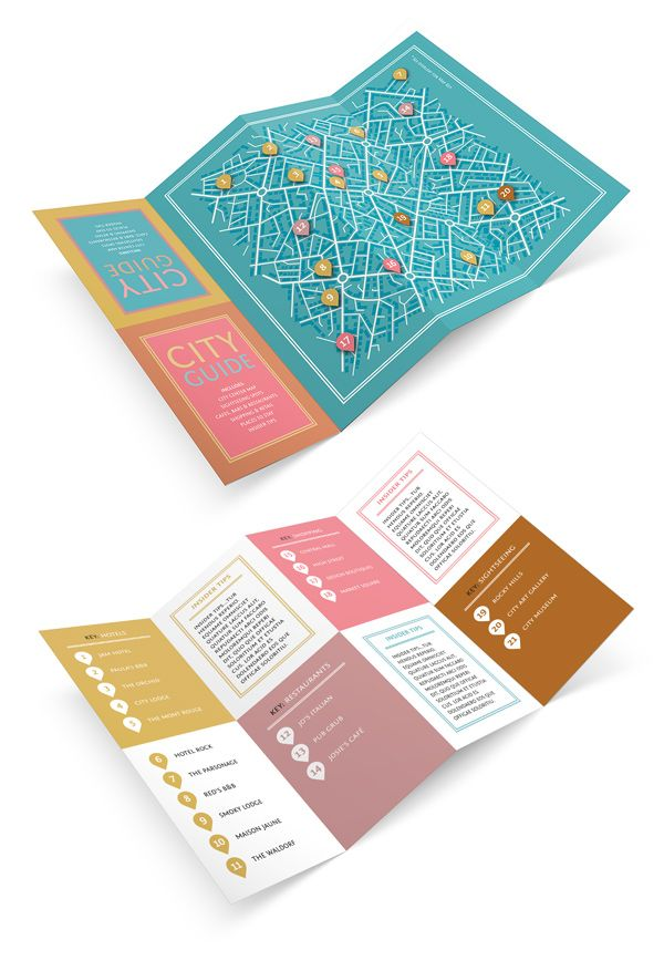 design a fold out city guide in adobe indesign indesign