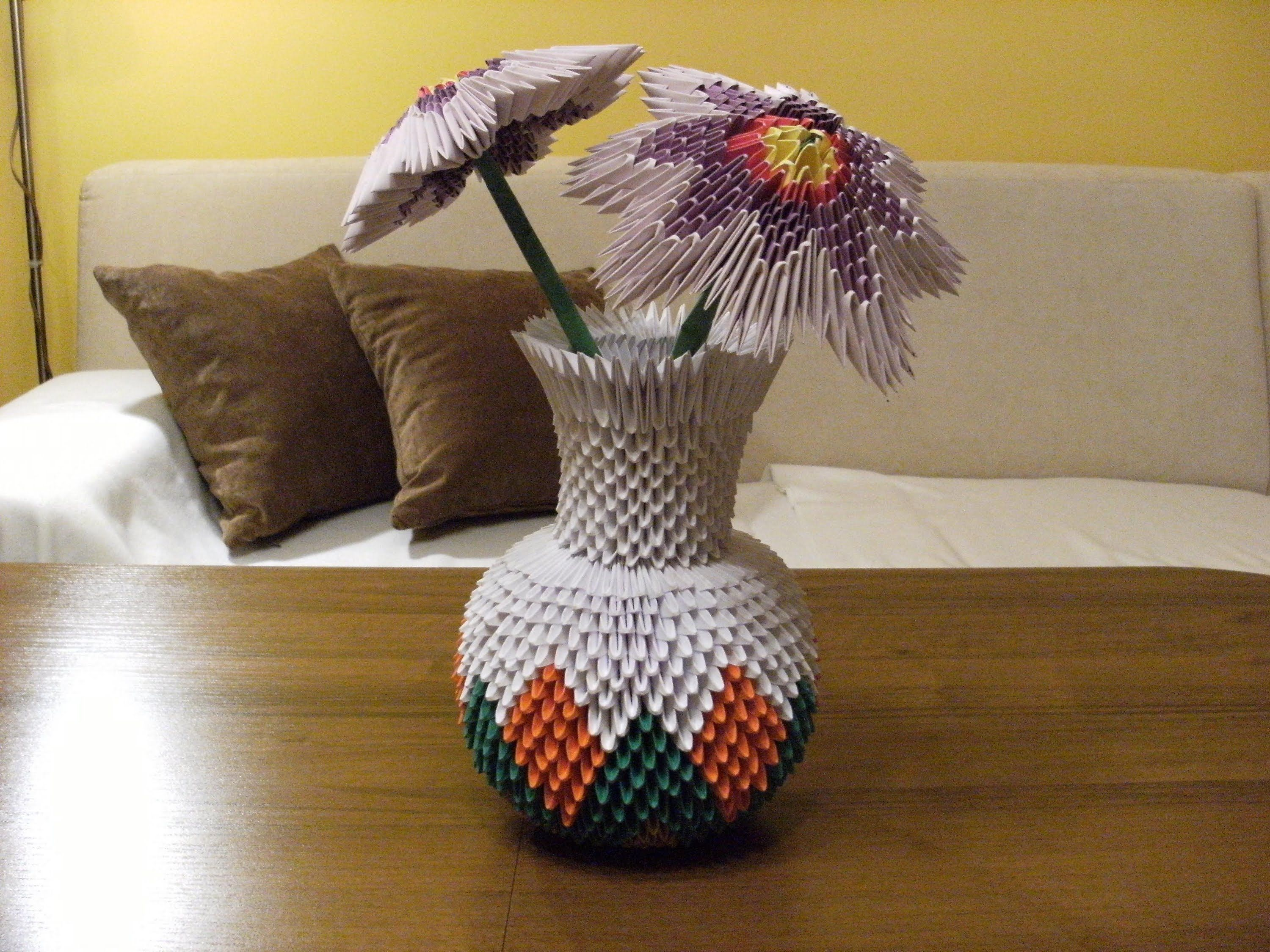 3d Origami Round Vase Full Tutorial Origami Projects