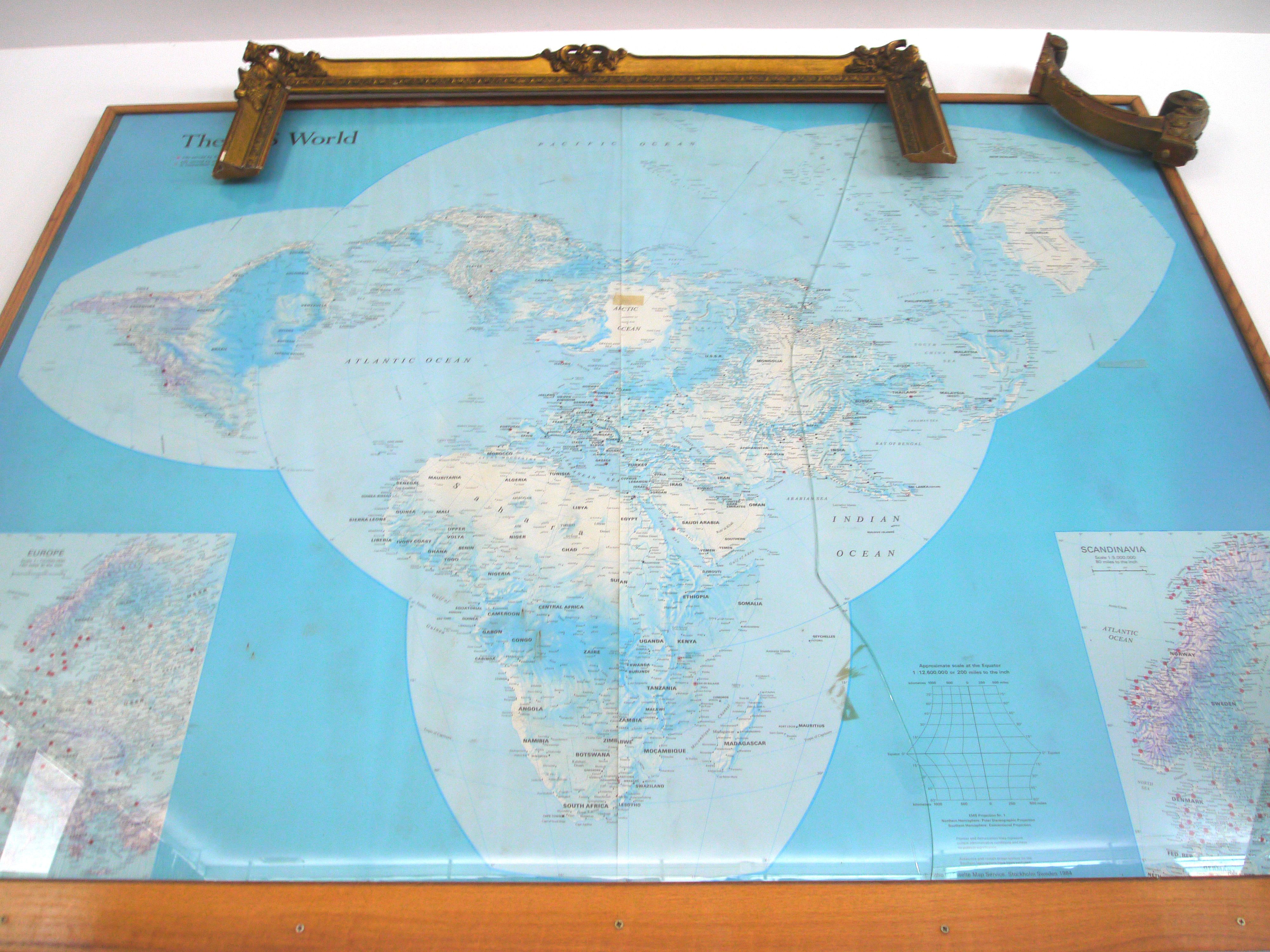 World Map by Scandinavian Airlines