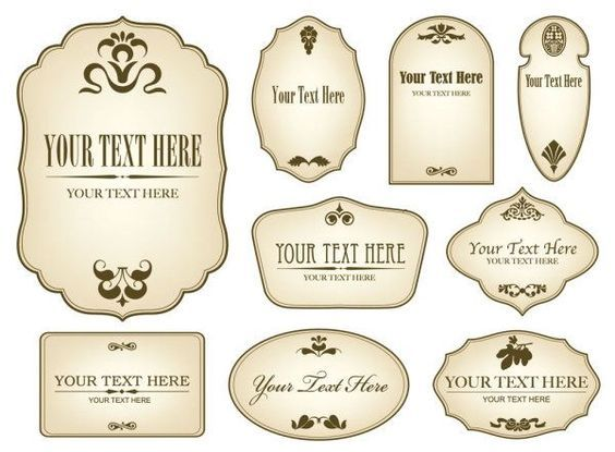 Free Decorative Label Templates Simple bottle label 01 Vector - labels template free