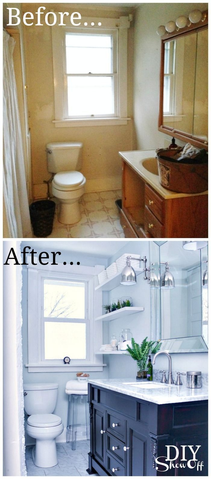 Diy Show Off Renovation Tiny Bath Diy Home Improvement
