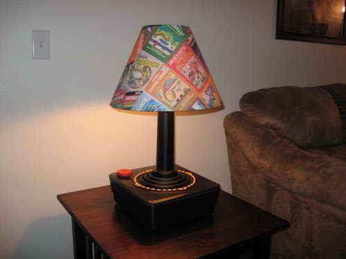 And this lamp made out of an old Atari joystick.