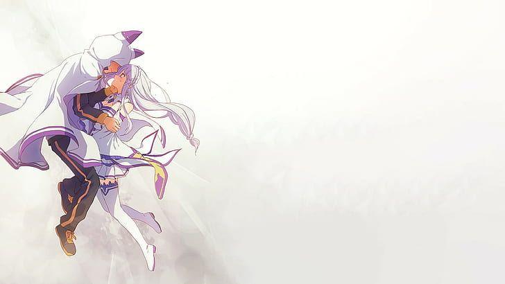 HD wallpaper: Re:Zero Kara Hajimeru Isekai Seikatsu, Natsuki Subaru, Emilia (Re: Zero)