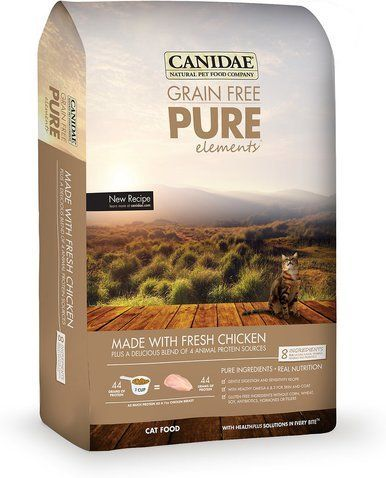 CANIDAE Grain Free PURE Element Cat Chicken Dry Cat Food Protein Healthy 5lbs