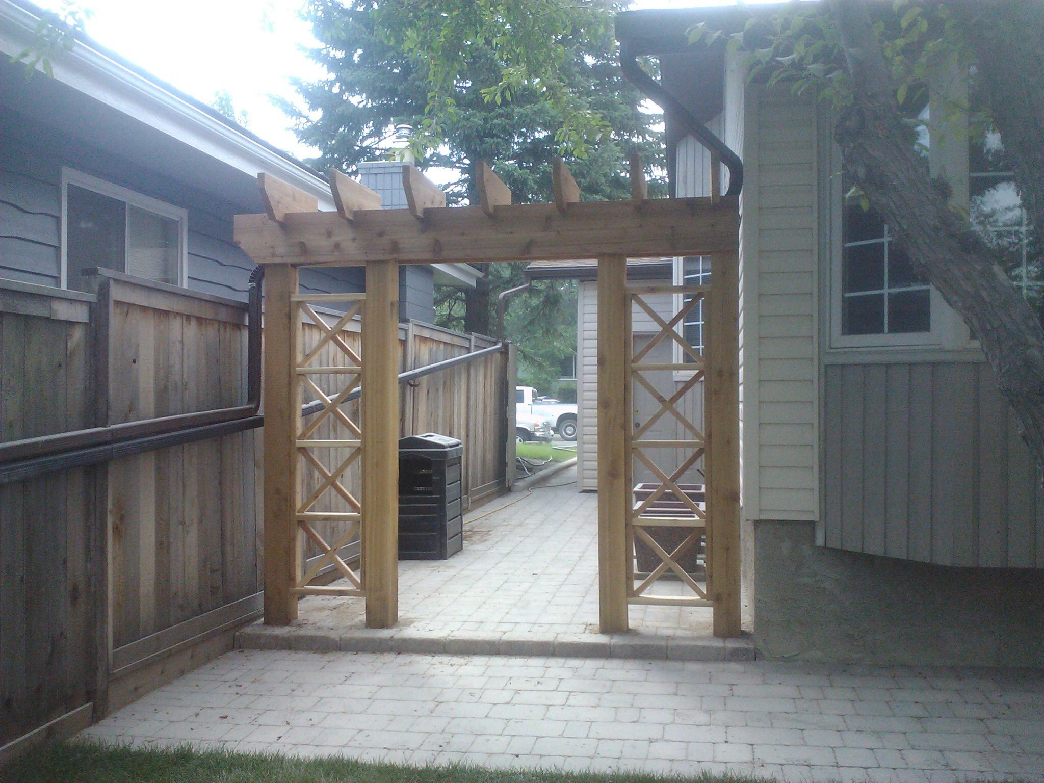 Pin By Mo Vengeance On Past Projects Downspout Pergola Rustic Pergola