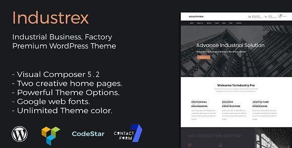 Industry and Construction Premium WordPress Theme