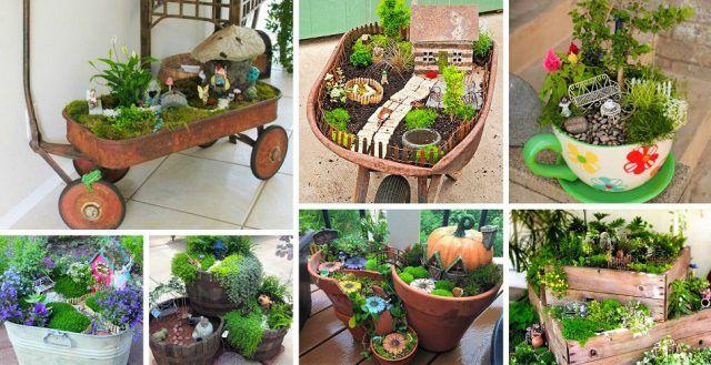 DIY Mini-Gardens | Mini garden, Beautiful home gardens ...