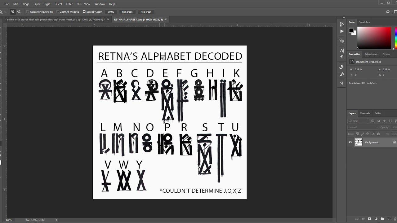 Reading Retna S Alphabet Retna Script Decoded Youtube Graffiti Lettering Retna Lettering