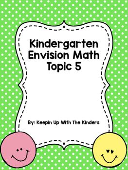 Kindergarten Envision Math Topic 5 | Kinder Math | Envision ...