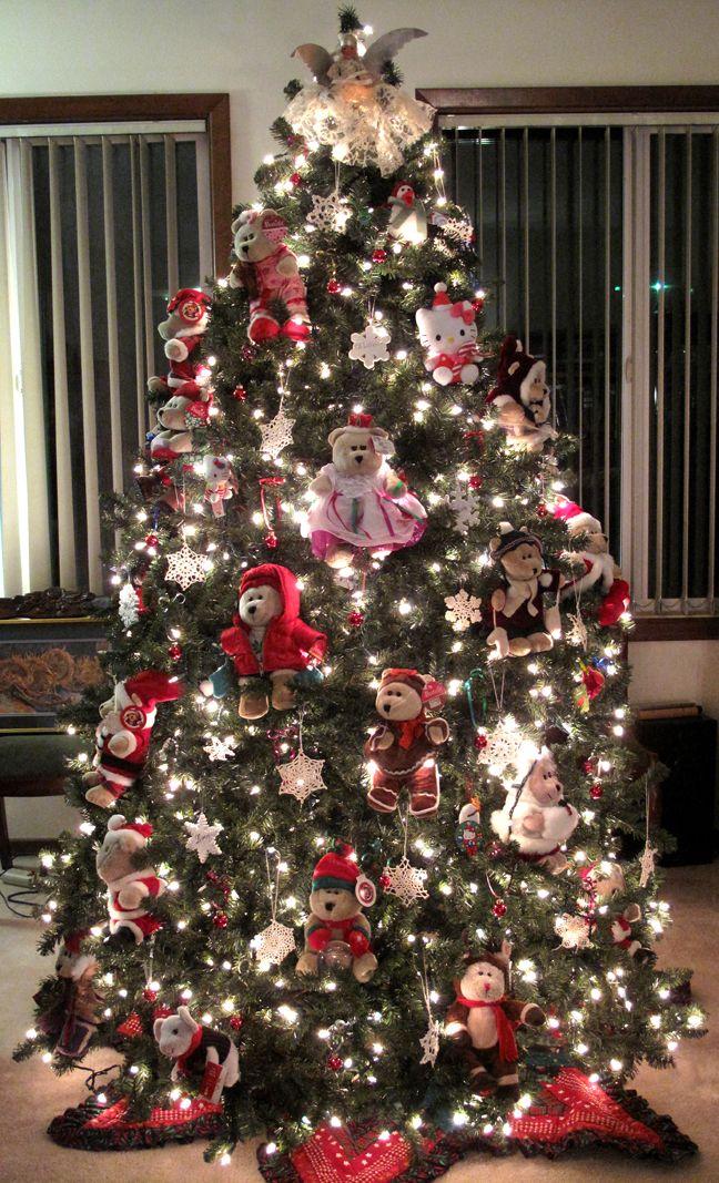 Teddy Bear Themed Christmas Tree 3 Christmas Tree Themes Christmas Tree Decorations Christmas Tree Design