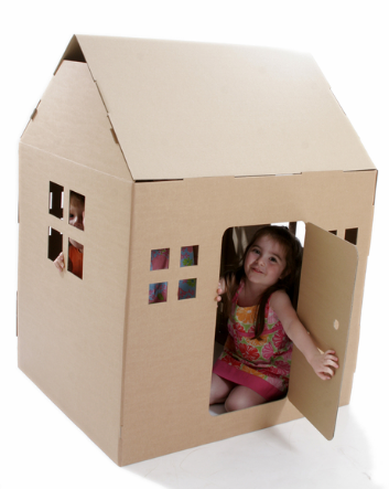 cabane en carton recycl baby pinterest cardboard playhouse play houses and cardboard toys. Black Bedroom Furniture Sets. Home Design Ideas