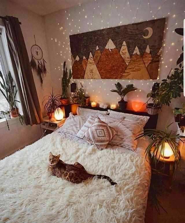 A Soft Bed With A Kitty Cozyplaces Modern Bohemian Bedroom Bohemian Bedroom Decor Bedroom Decor Bedroom interior design reddit