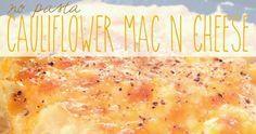 No Pasta Cauliflower Mac N Cheese ~ Shan Made