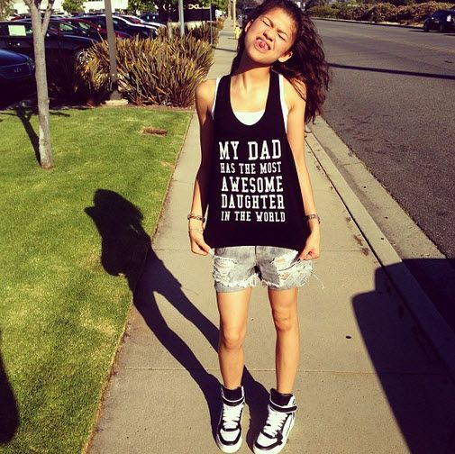 Zendaya Coleman Mom | zendaya happy fathers day shirt june 16 2013 Zendayas  Beautiful .
