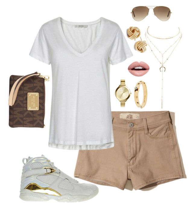 0e4890e938517d Jordan 8s Gold and White Outfit by shayleena-green on Polyvore featuring  polyvore
