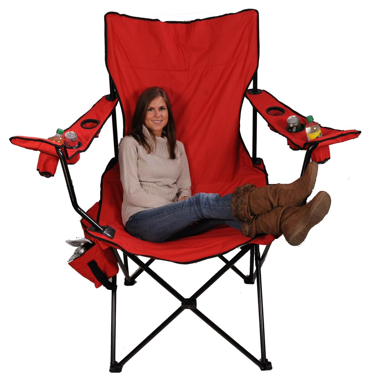 Elmo folding chair - Red Kingpin Folding Chair Free Shipping On Orders Over 99 At Genuine Hotrod Hardware