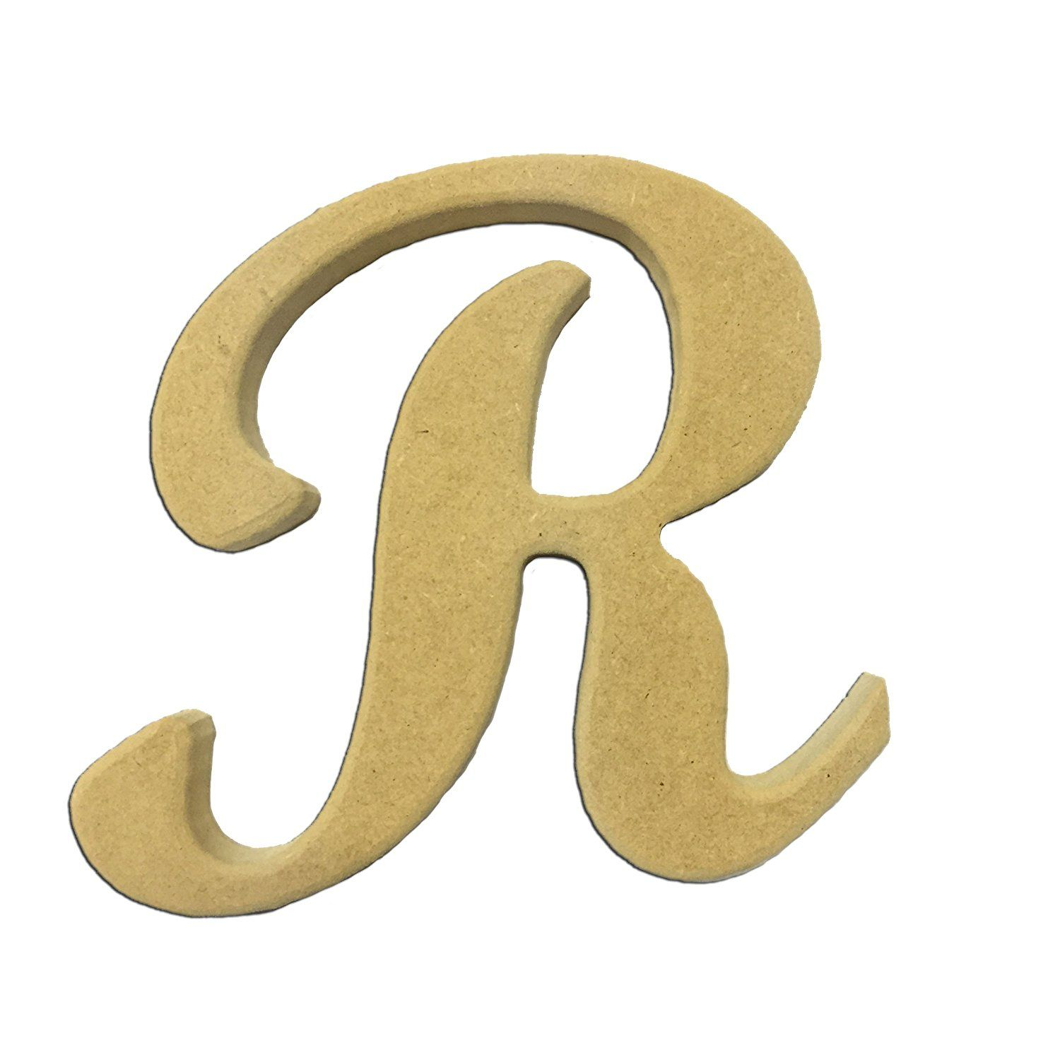 6 Capital Letter R Script Cursive Unfinished Wood Diy Craft Cutout To Sell Ready To Paint Wooden Stacke Wood Crafts Diy Things To Sell Wooden Monogram Letters