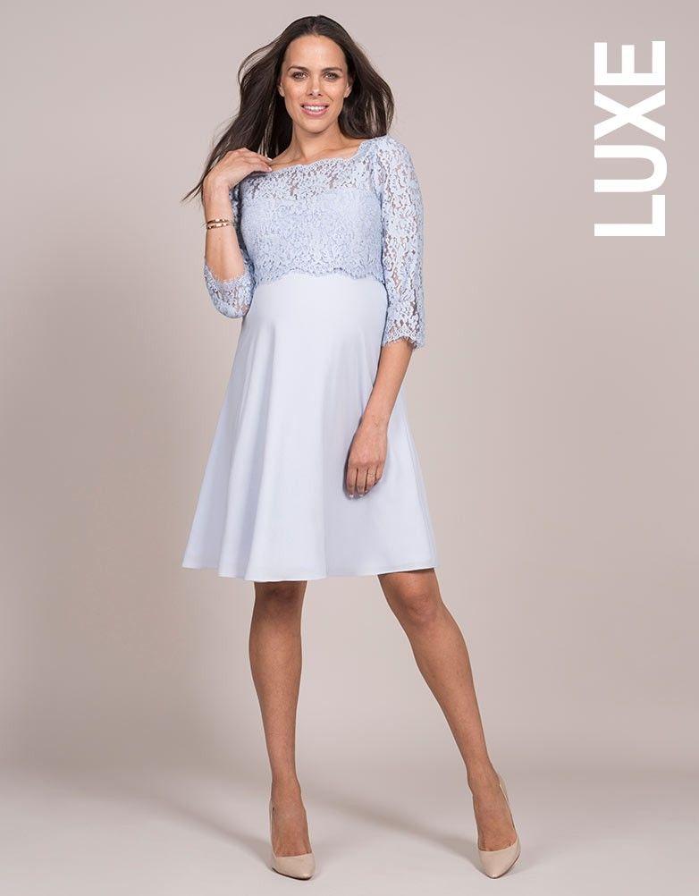fc43a4be9f6 Pale Blue Lace Maternity   Nursing Dress