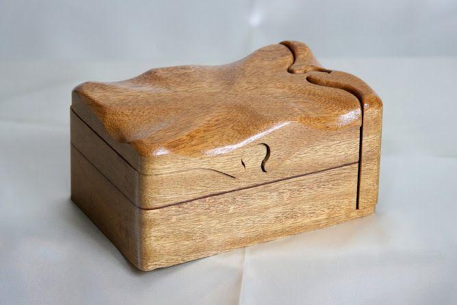 Wooden secret keepsake & memory puzzle boxes