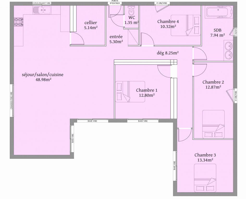 30 Plan De Maison En L Plain Pied House Plans How To Plan