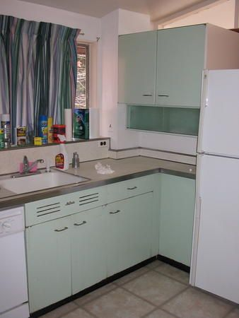 Pin By Jessica Smith On Kitchens Metal Kitchen Cabinets Vintage Kitchen Cabinets Metal Kitchen