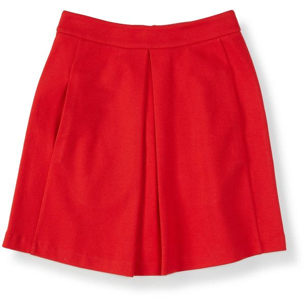 Boden Kate Ponte Skirt ($53) ❤ liked on Polyvore featuring skirts, print skirt, red skirt, ponte skirt, box pleat skirt and patterned skirt