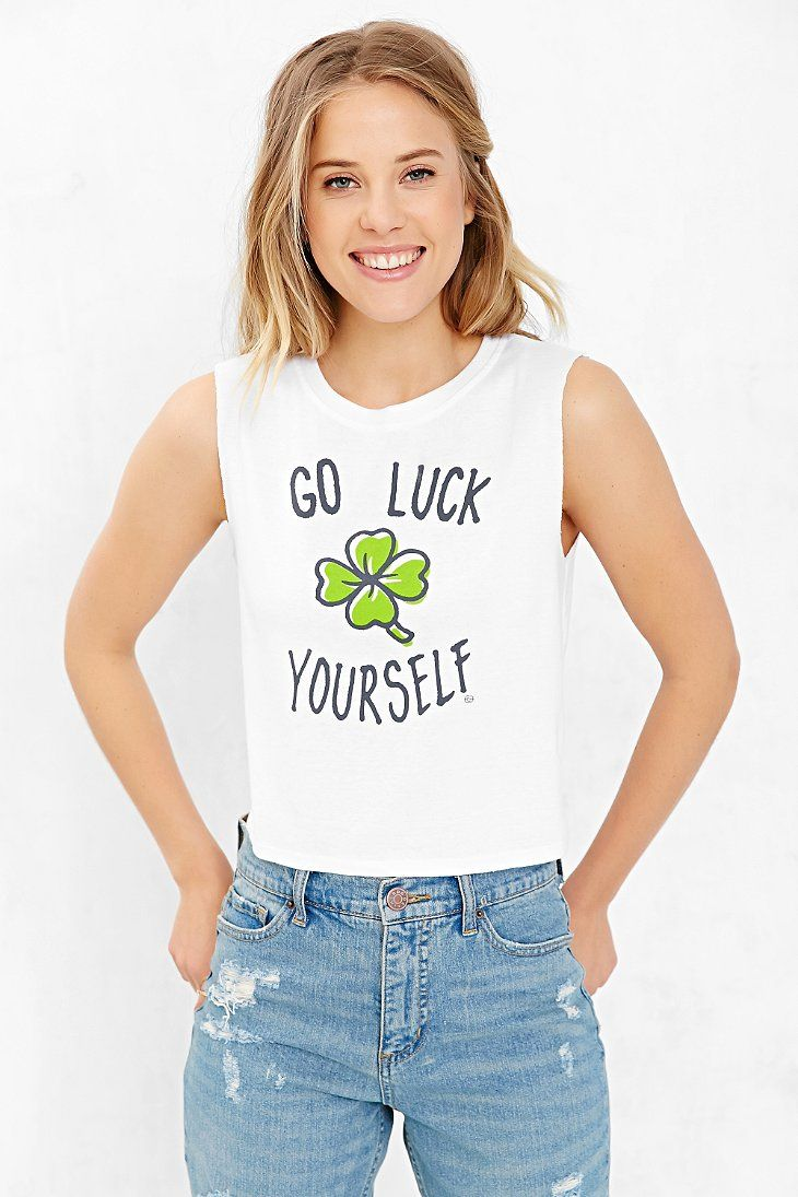 St. Patty's Day Cropped Muscle Tee