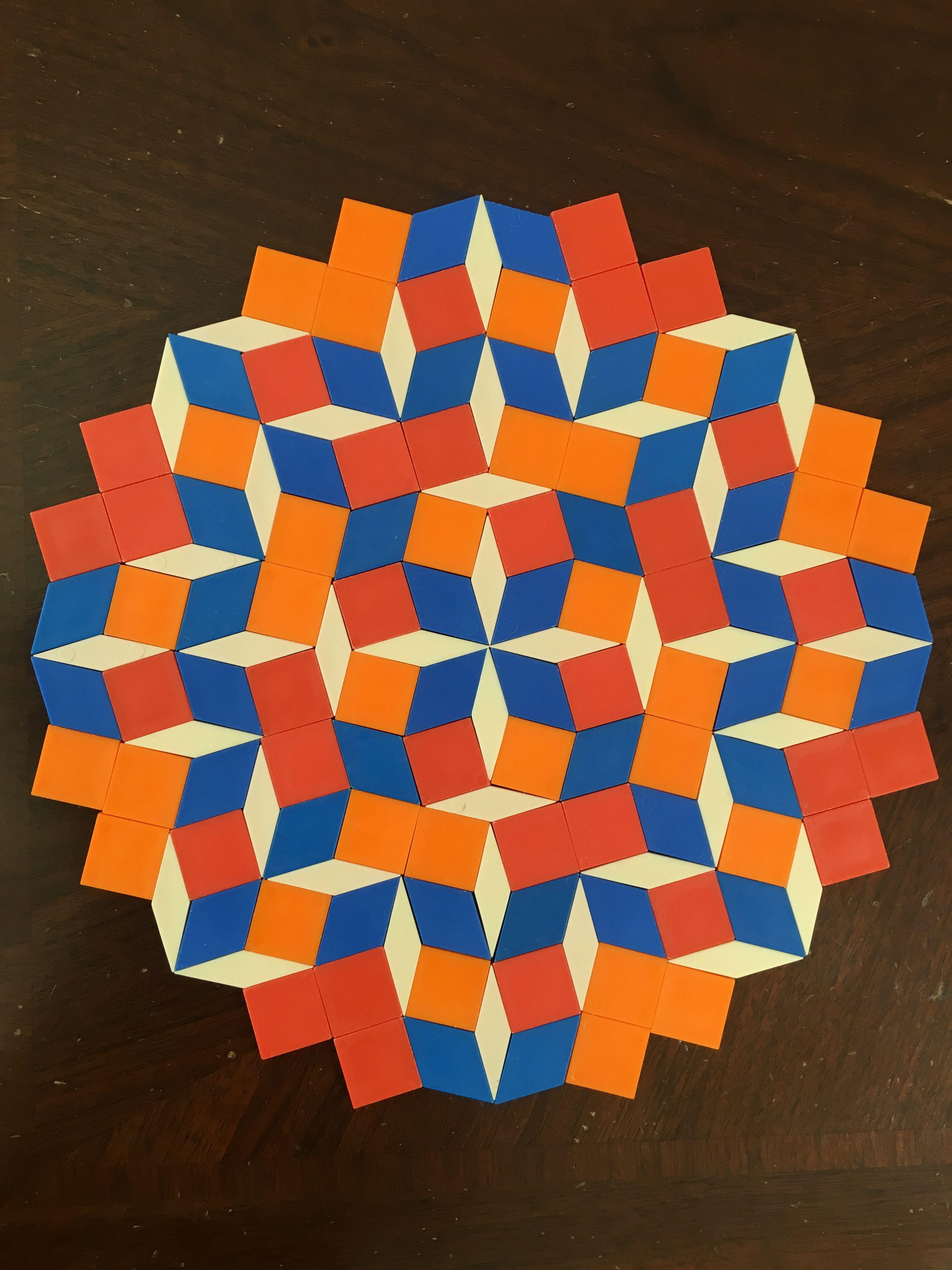 Mandala From 8 Fold Square Rhomb Tiling 2 Twisted