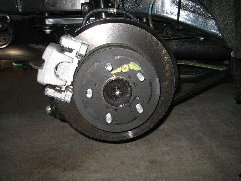 2017 Toyota Camry Rear Brake Caliper Bracket Rotor Changing Pads