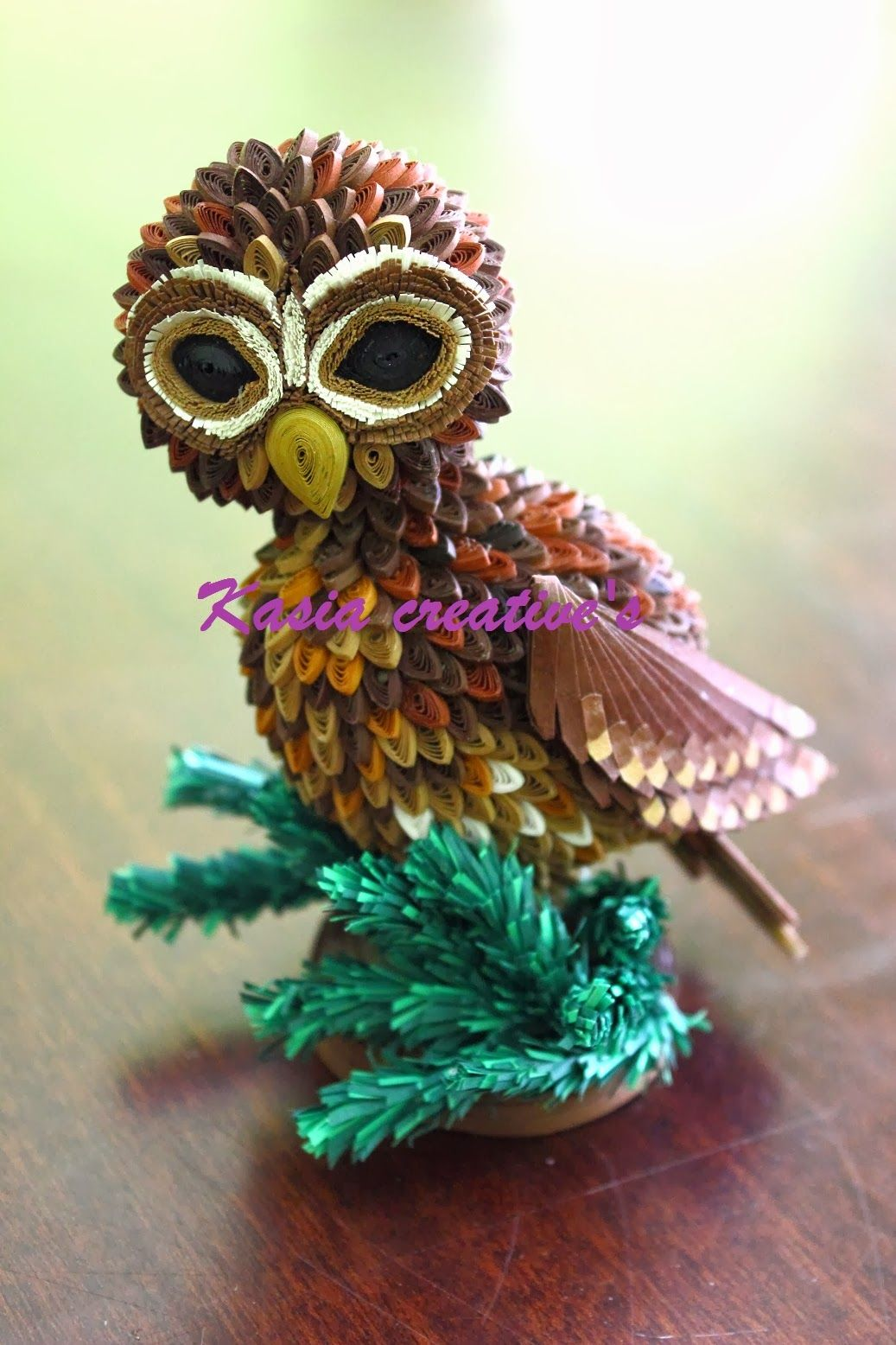 Creative blog: 3D quilled Tawny owl
