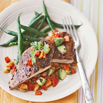 Blackened Chicken With Avocado Salsa Recipe Healthy Chicken Recipes Heart Healthy Chicken Recipes Quick Easy Healthy Dinner Recipes