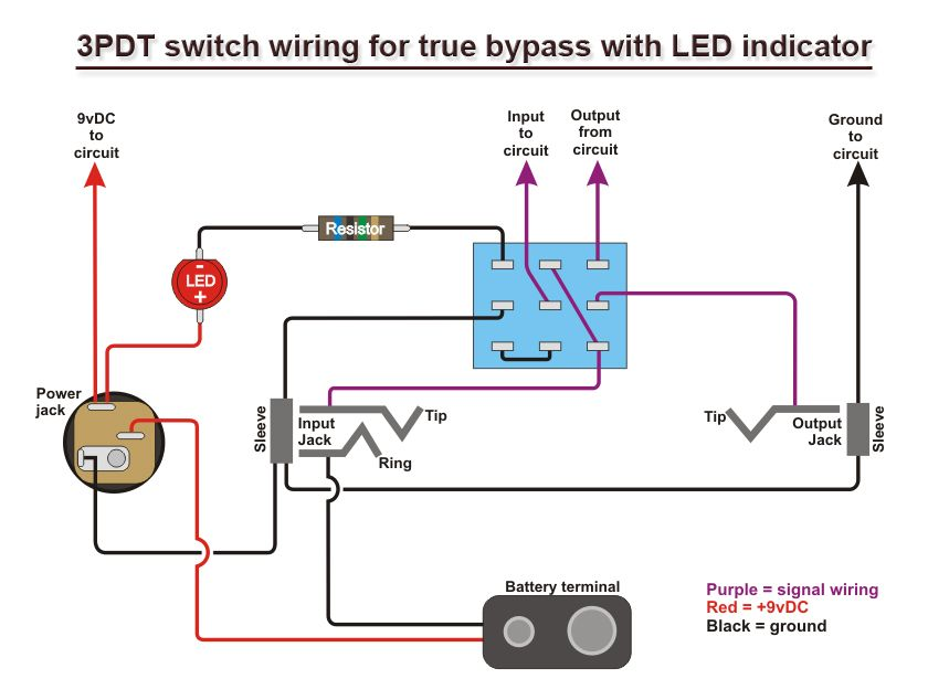 49c47262d4823935501f5f140b3769bc diy led tremolo 555 3pdt buscar con google diy pinterest cry baby wiring diagram at bakdesigns.co