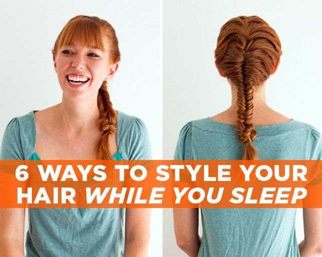 6 Ways To Style Your Hair While You Sleep Sleep Hairstyles Wet Hair Overnight Overnight Hairstyles