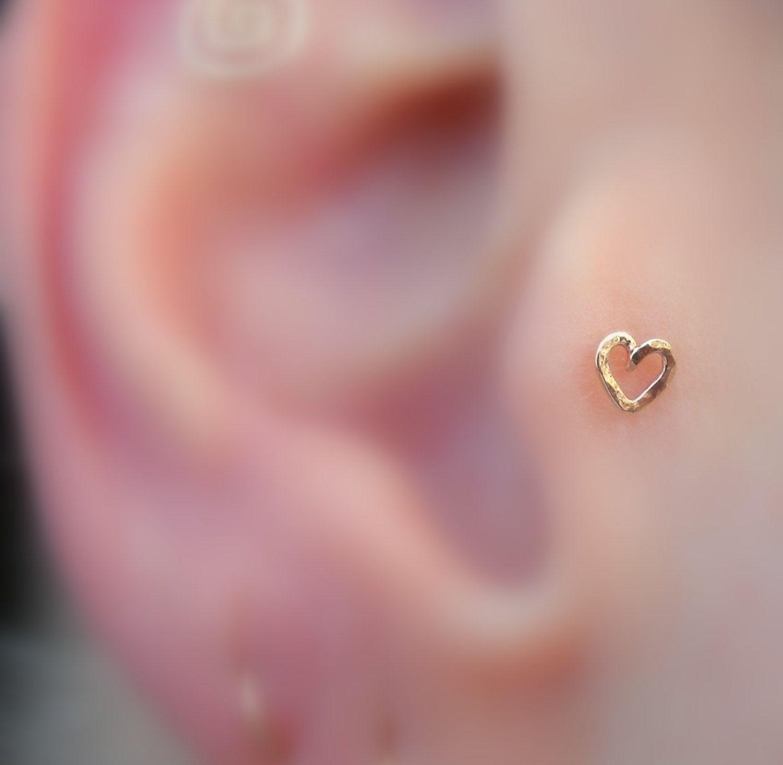 Tragus Nose Ring Cartilage Earring 14K Rose by Holylandstreasures