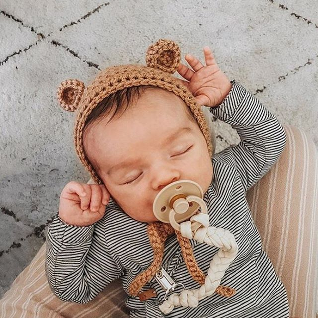 Baby Bear BIBS pacifier pacis available in the shop! photo via  @celestecclark #howwestyledarlingclementin…   Baby boy photos, Cute baby  boy outfits, Cute baby boy