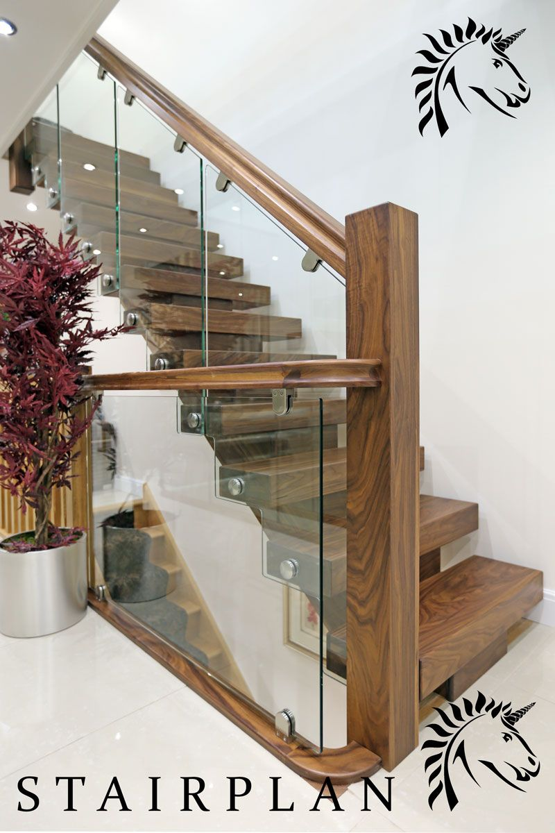 Best Walnut Staircases X Vision Design Stair Railing Design 640 x 480
