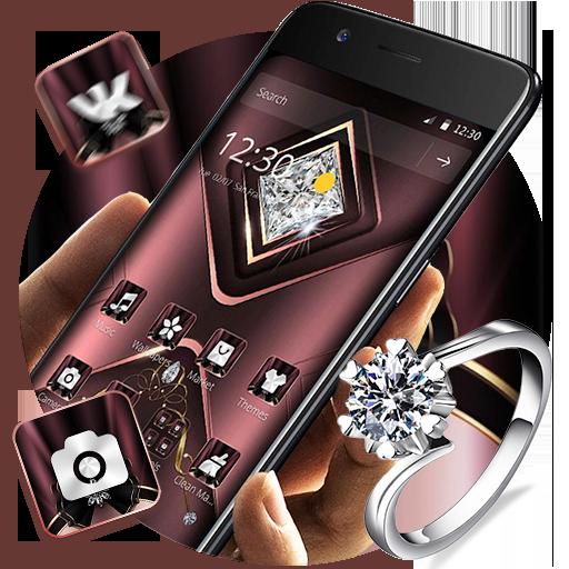 Free Download Carmine Velvet Glitter Diamond Theme 1 1 2 Apk Diamond Theme Diamond Glitter Cute Rainbow Unicorn
