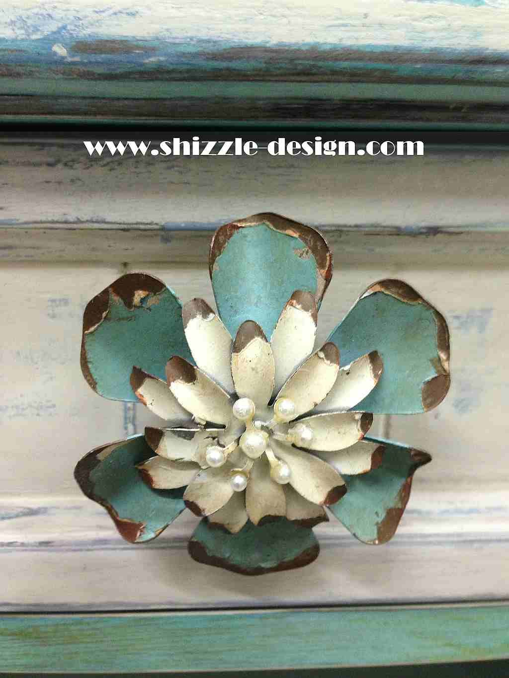 Best Whimsical Turquoise Coffee Table W A Little Bling 400 x 300