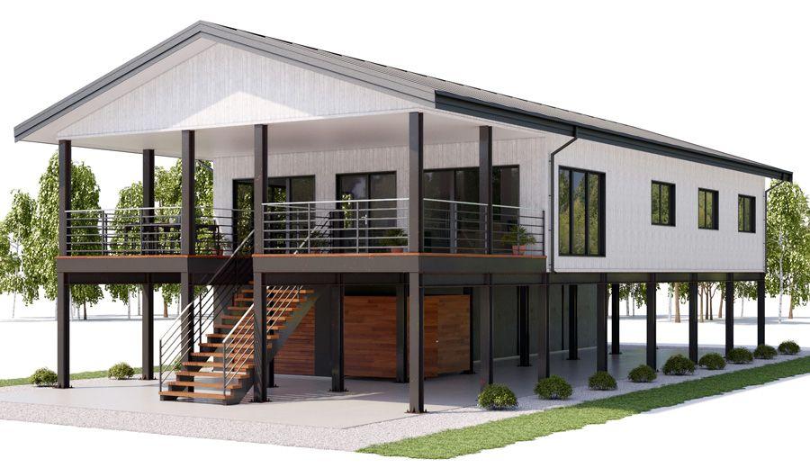 House Design House Plan Ch462 8 House On Stilts Coastal House Plans Beach House Floor Plans