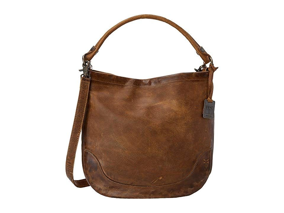 Frye Melissa Hobo Cognac Antique Pull Up Hobo Handbags The Frye Melissa Hobo has a rich leather construction and streamline organization that will make it your ideal ever...