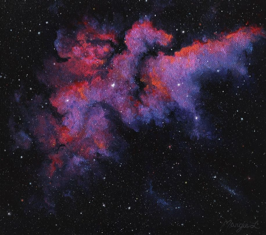 I was inspired by the wizard nebula but I put my own spin
