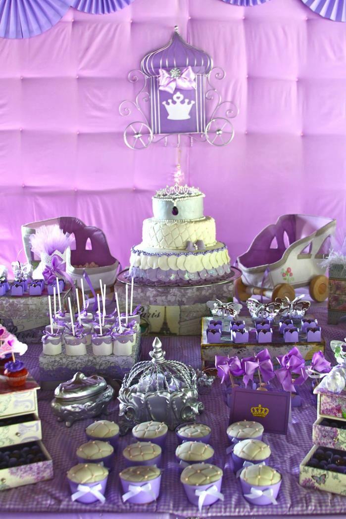 Purple Princess Sofia The First Themed Birthday Party Via Kara S Ideas Karaspartyideas