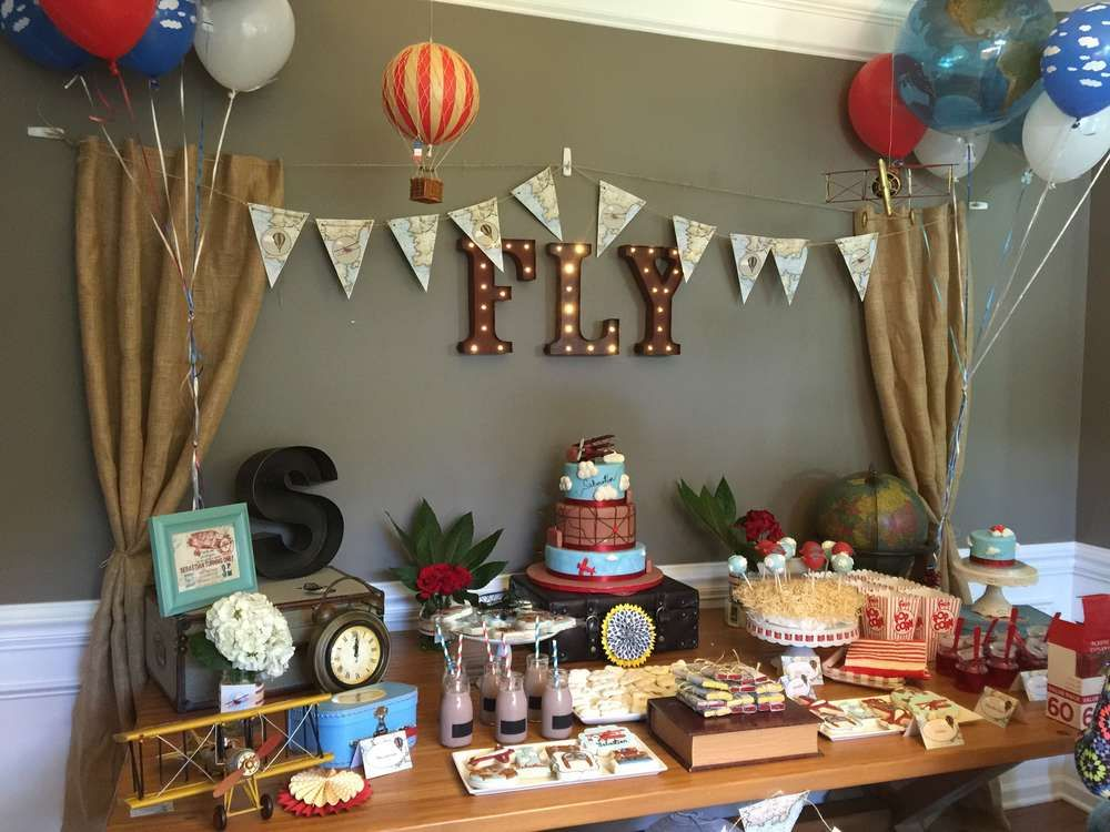 Vintage AirplanesWord travel Birthday Party Ideas Vintage
